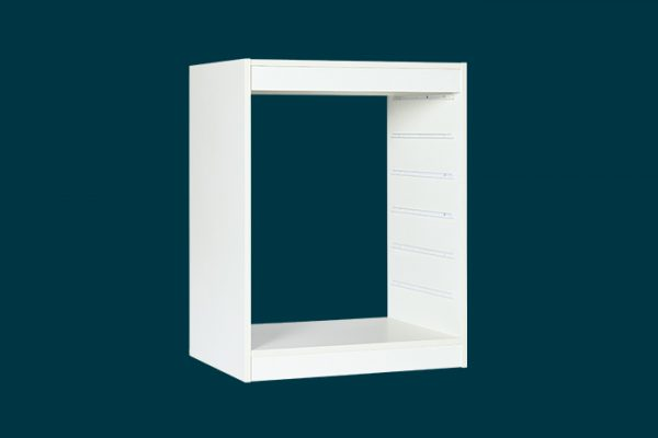 Flexi Storage Home Solutions 6 Runner Timber Frame White isolated