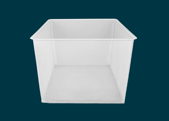 Home Solutions Full Width Mesh Basket 3 Runner White 285mm