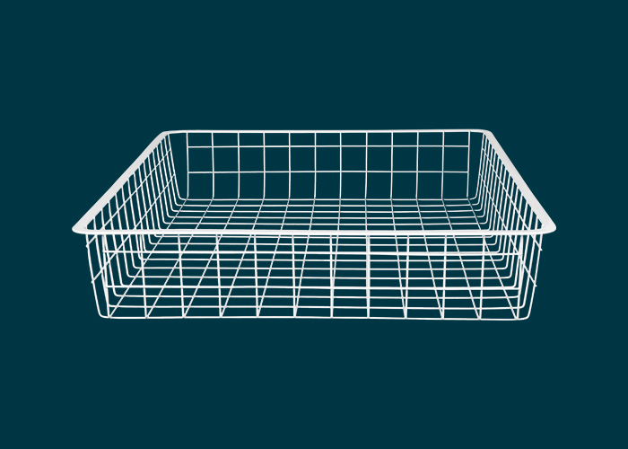 Home Solutions Full Width Wire Basket 1 Runner White 85mm