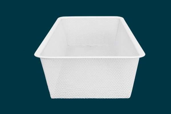 Flexi Storage Home Solutions Half Width Mesh Basket 1 Runner 85mm isolated