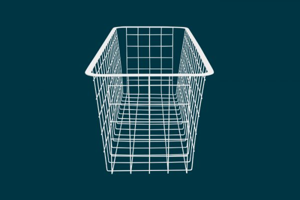 Flexi Storage Home Solutions Half Width Wire Basket 2 Runner 185mm isolated