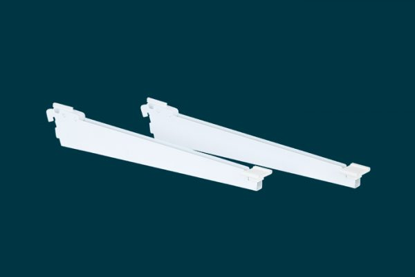 Flexi Storage Home Solutions Shoe Shelf Bracket White 350mm isolated