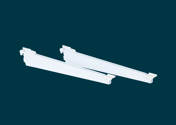 Home Solutions Shoe Shelf Bracket White 350mm 2PK