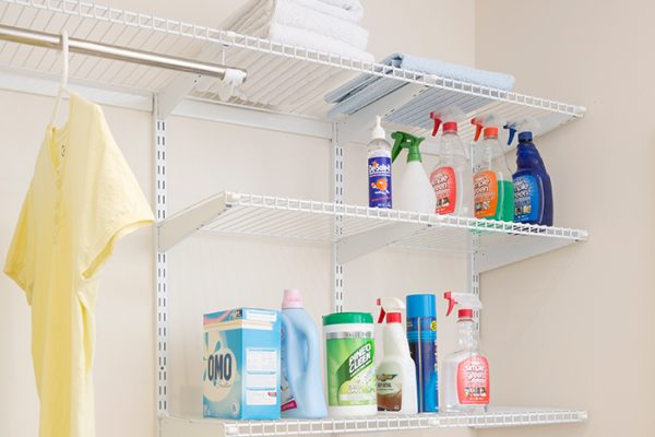 Flexi Storage Home Solutions Wire Shelf Front A 667mm used in a laundry