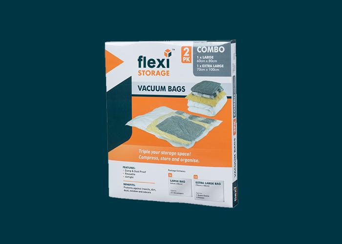 Vacuum Storage Bag Combo 2PK Large & Extra Large