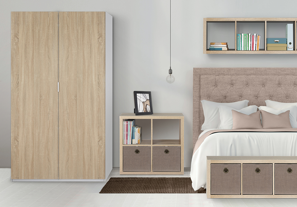 Flexi Storage Clever Cubes and Inserts used in bedroom