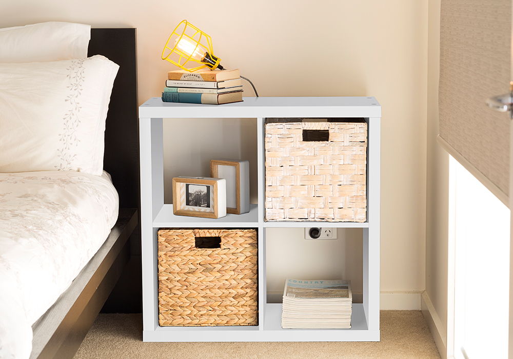 Flexi Storage Clever Cube Unit & Inserts used in bedroom