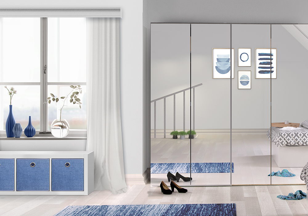 Flexi Storage Hinge Wardrobe, Clever Cube and Inserts used in contemporary bedroom