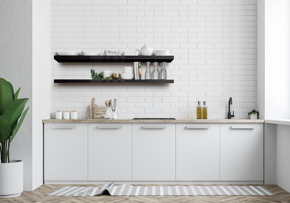 Flexi Storage Decorative Shelving installed in kitchen