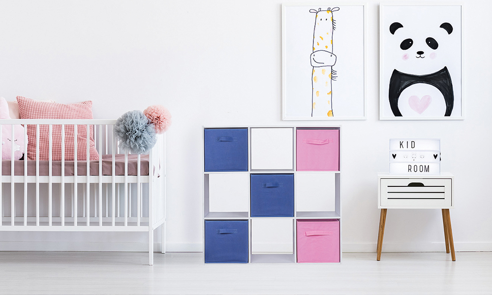 Flexi Storage Compact Cube Unit and Inserts used in Kids Room