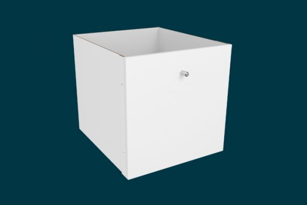 Flexi Storage Clever Cube Timber Insert 1 Drawer White High Gloss isolated
