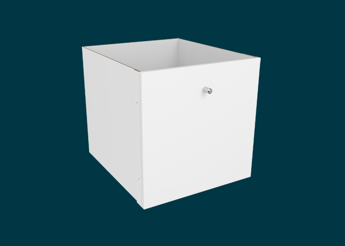 Clever Cube Timber Insert 1 Drawer White High Gloss