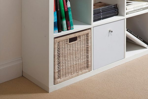 Flexi Storage Clever Cube Timber Insert 1 Drawer White High Gloss installed in Flexi Storage Clever Cube Unit