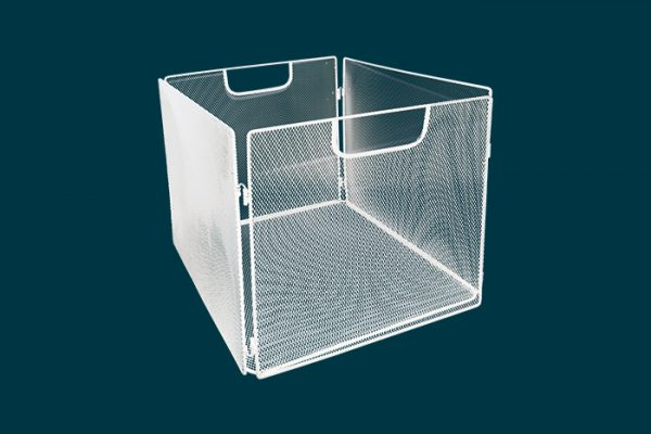 Flexi Storage Clever Cube Wire Insert Mesh White isolated