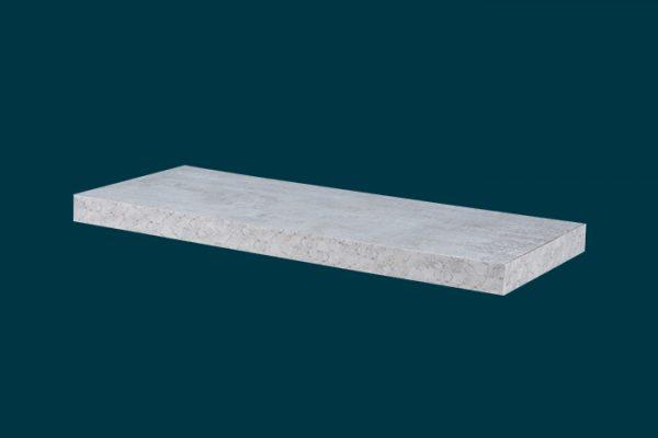 Flexi Storage Decorative Shelving Floating Shelf Concrete 600 x 240 x 38mm isolated