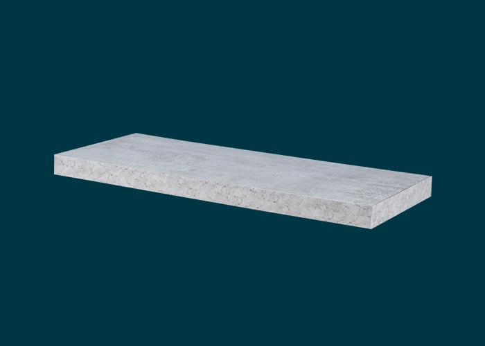Floating Shelf Grey Concrete 600x240x38mm