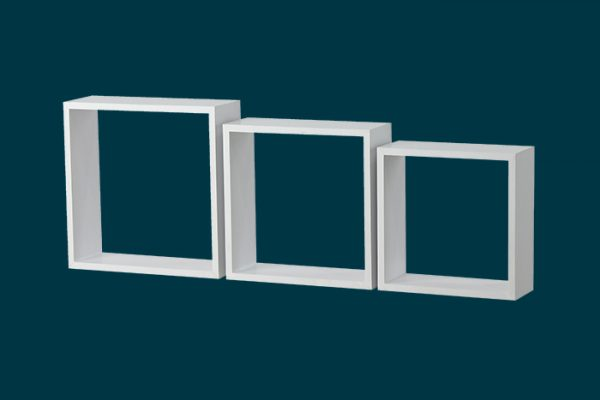 Flexi Storage Decorative Shelving Wall Mount Cubes 3PK isolated