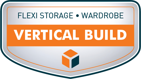 Flexi Storage Wardrobe Vertical Build Capabilities Graphic