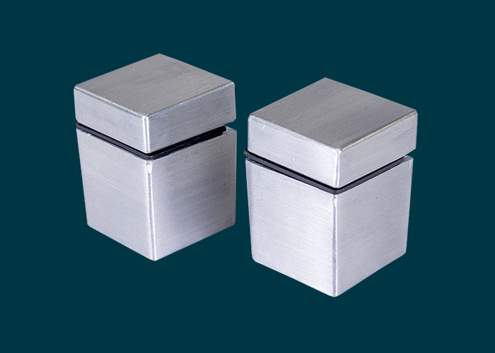 Cube Shelf Clip Aluminium