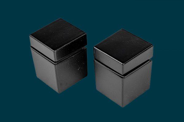 Flexi Storage Decorative Shelving Cube Shelf Clip Matt Black 2 Pack isolated