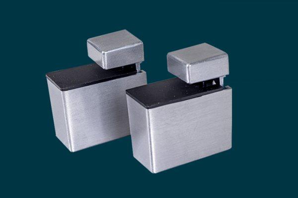 Flexi Storage Decorative Shelving Recto Shelf Clip Aluminium 2 Pack isolated