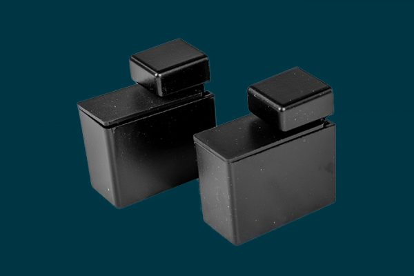 Flexi Storage Decorative Shelving Recto Shelf Clip Matt Black 2 Pack isolated