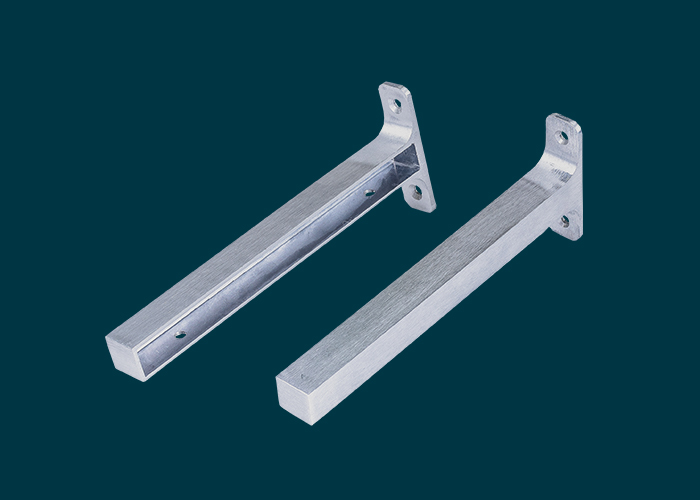 Timber Shelf End Brackets Left & Right 200mm Aluminium