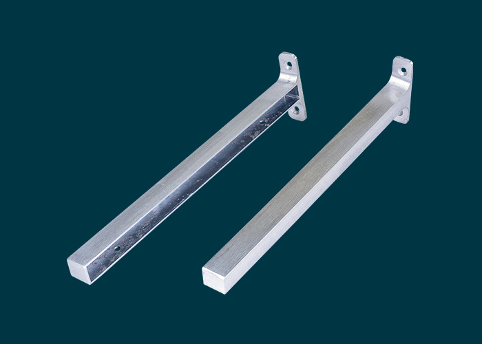 Timber Shelf End Brackets Left & Right 300mm Aluminium